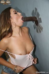 Melissa Moore - Blows a long Cock